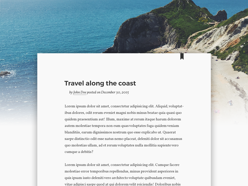 Daily UI #035 Blog Post