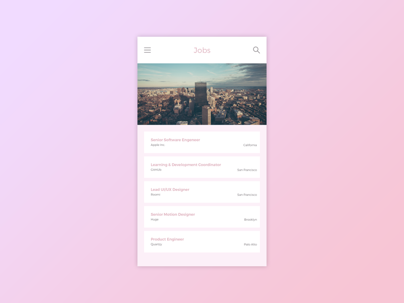 Daily UI #050 Job Listing