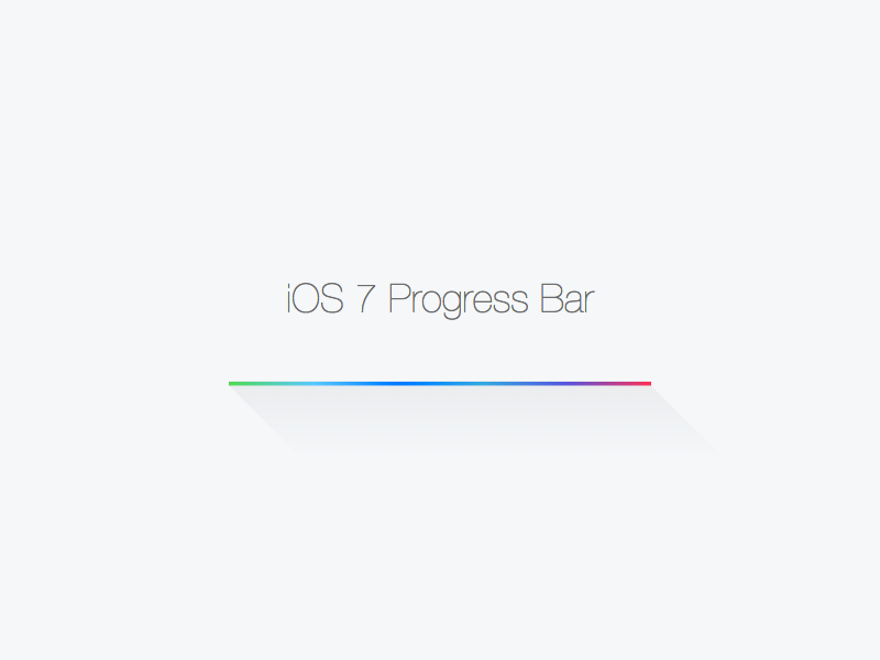 iOS 7 Progress Bar